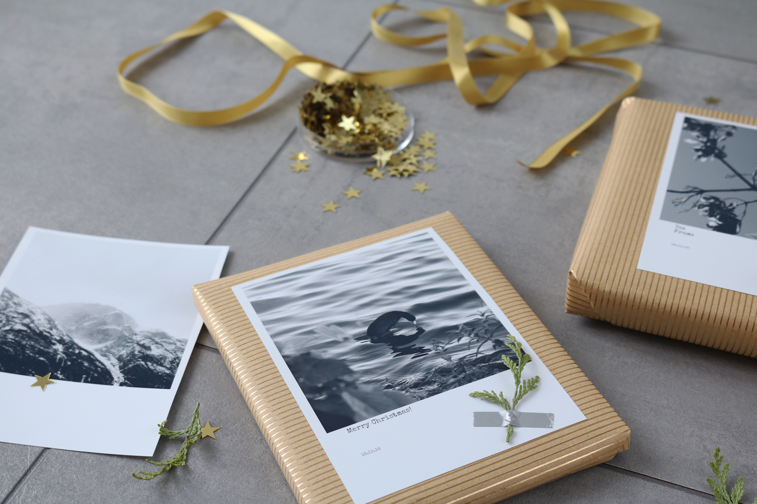 diy geschenke mit polaroids verpacken pretty nice. Black Bedroom Furniture Sets. Home Design Ideas